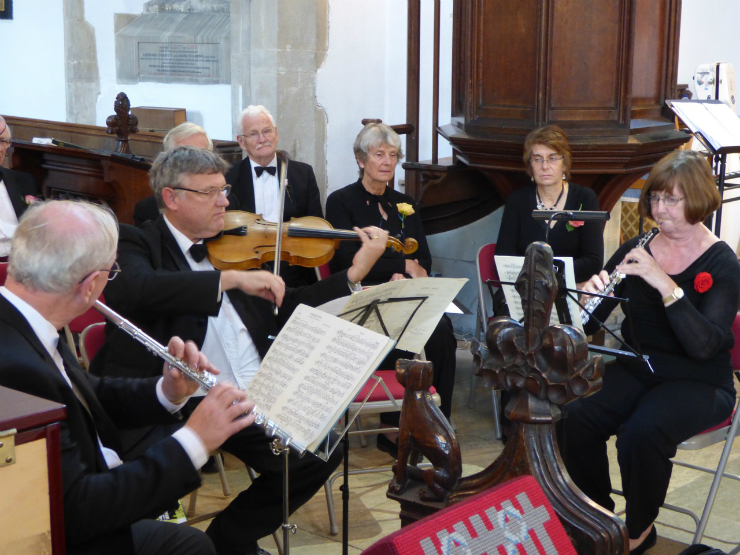 Kirbye Voices and Friends performing at Great Barton Church, July 2016